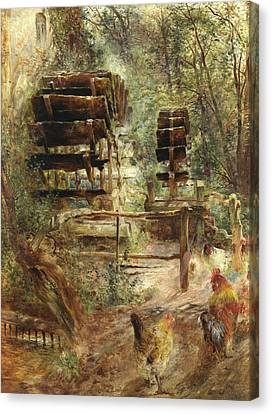 Watermill At Rossett, North Wales Canvas Print