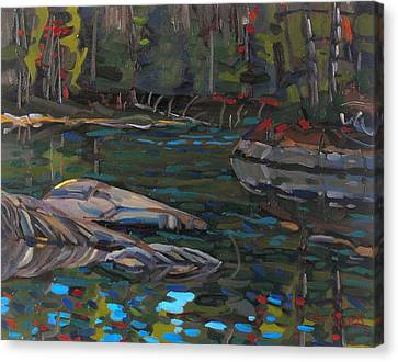 Oil Canvas Print - Waters Edge by Phil Chadwick
