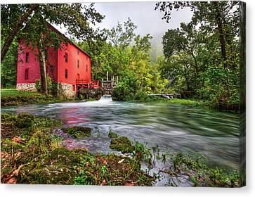 Grist Mill Canvas Print - Waters Of Alley Spring Mill  by Gregory Ballos
