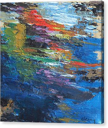 Water's Poetry  No. 4 Canvas Print by Melody Cleary