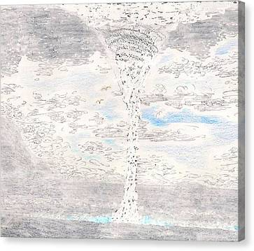 Waterspout Canvas Print by Al Goldfarb