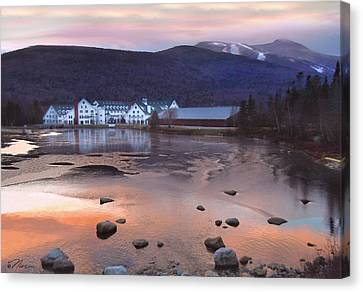 Waterville Valley Sunset Canvas Print by Nancy Griswold