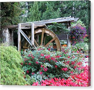 Waterwheel Canvas Print by Betty Buller Whitehead