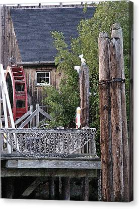 Canvas Print featuring the photograph Waterwheel Office Building by Margie Avellino