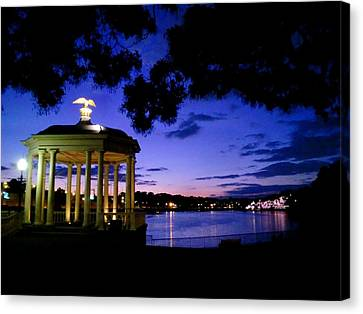 Waterworks At Night Canvas Print by Andrew Dinh