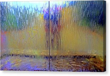 Canvas Print featuring the photograph Watery Rainbow Abstract by Nareeta Martin