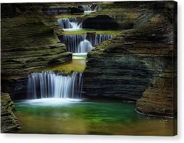 Watkins Glen New York Waterfall Canvas Print by Bill Wakeley