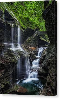 Watkins Glen Rainbow Falls 2013 Canvas Print by Bill Wakeley