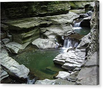 Canvas Print featuring the photograph Watkins Glen State Park by John Schneider