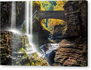 Canvas Print featuring the photograph Watkins Glen State Park by Mihai Andritoiu