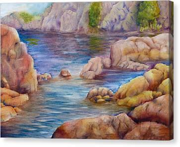 Watson Lake 2 Canvas Print by Melanie Harman