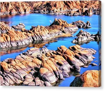 Watson Lake At Prescott Az Canvas Print by Dominic Piperata