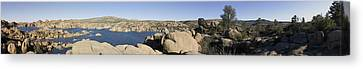 Watson Lake Canvas Print by Austin Troya
