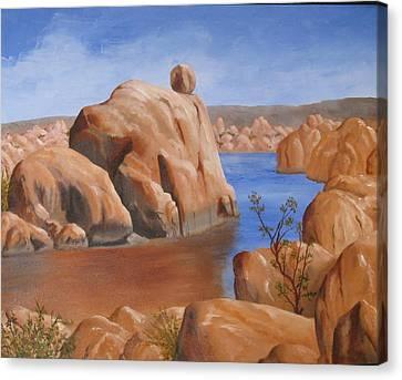 Watson Lake Canvas Print by Jan Rooney