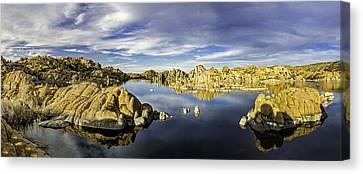 Watson Lake Panoramic 30x12 Canvas Print