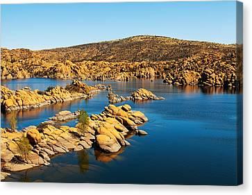 Watson Lake - Prescott Arizona Usa Canvas Print by Susan Schmitz