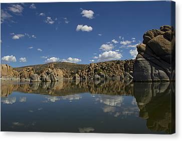 Watson Lake Reflection Canvas Print by Amy Sorvillo