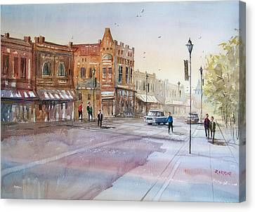 Waupaca - Main Street Canvas Print by Ryan Radke