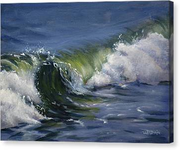 Sea Canvas Print - Wave 76 by Christopher Reid