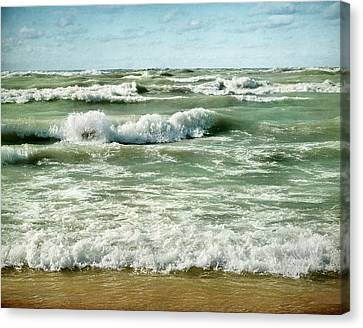 Wave Action Canvas Print by Kathi Mirto