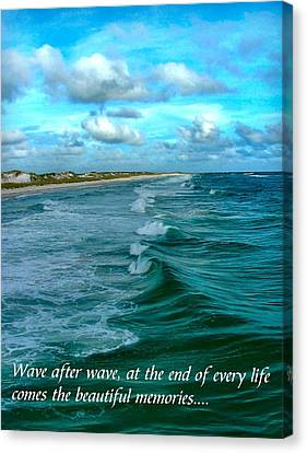 Wave After Wave Canvas Print by Julie Dant