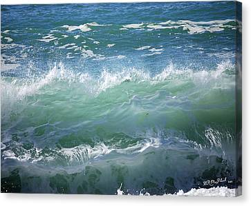 Canvas Print featuring the photograph Wave by Barbara MacPhail