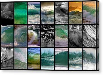 Wave Chart Canvas Print by Brad Scott