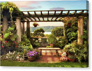 Wave Hill Pergola Canvas Print by Jessica Jenney