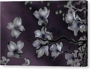 Canvas Print featuring the painting Wave Japanese Art by Gray  Artus