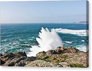 Wave Like Quartz Canvas Print by Terri Waters