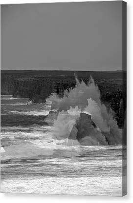 Wave Overlay Of Sagres Wind Storm Canvas Print