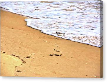 Canvas Print featuring the photograph Wave Runner by Jan Amiss Photography