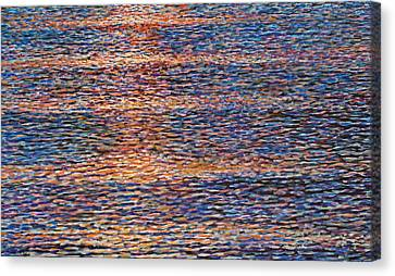 Wave Study Canvas Print by Laurie Stewart