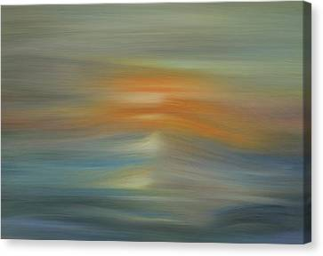 Wave Swept Sunset Canvas Print by Dan Sproul
