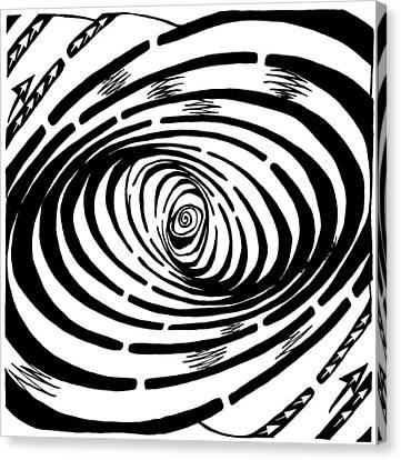 Wave Swirl Maze Canvas Print by Yonatan Frimer Maze Artist