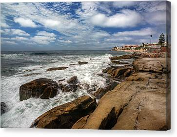 Wave Wash Canvas Print by Peter Tellone
