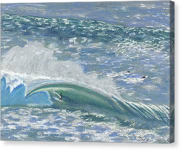 Surfing Art Canvas Print - Waverider by Patti Bruce - Printscapes