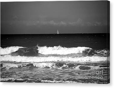 Waves 4 In Bw Canvas Print