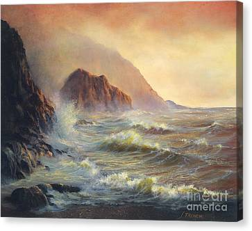 Waves After The Storm Canvas Print by Jeanette French