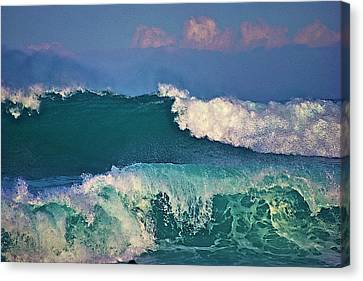 Waves And Clouds Canvas Print