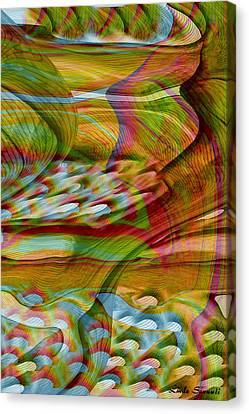 Waves And Patterns Canvas Print by Linda Sannuti
