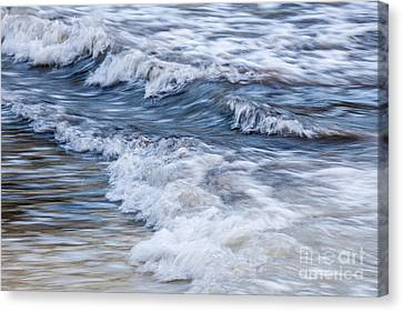 Waves At Shore Canvas Print by Elena Elisseeva
