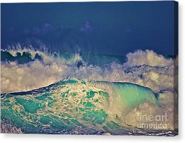 Waves Breaking Canvas Print