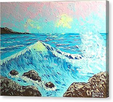 Waves Canvas Print by Brenda Bonfield