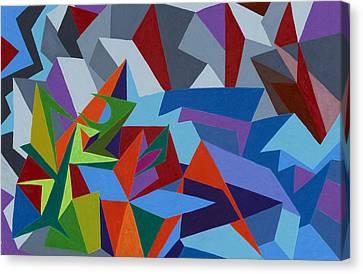Sean Horse Canvas Print - Waves Crashing Into Rocky Sea Cliff by Sean Corcoran