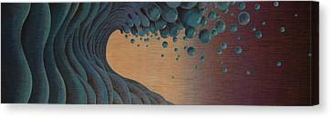 Waves Crashing Canvas Print by Tim Foley