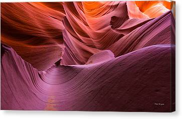 Waves-lower Antelope Canyon Canvas Print
