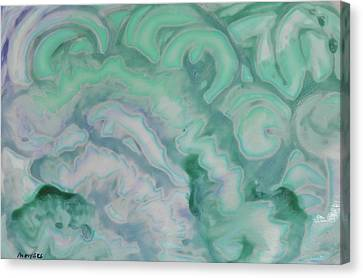 Canvas Print featuring the painting Waves by Michele Myers