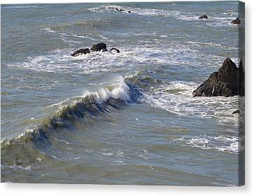 Waves Canvas Print by Miranda Strapason