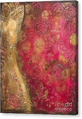 Waves Of Circles On Fuchsia Canvas Print
